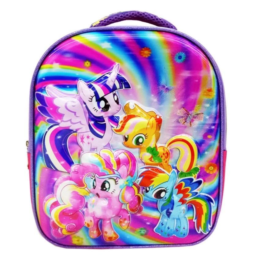 Gambar Produk Rinci SHOPPIES - My Little Pony 5D Timbul Hologram Tas Ransel Anak Sekolah TK Import - Ungu Terkini