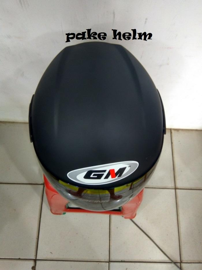 PROMO HELM GM ICON SOLID HITAM DOFF HALF FACE TERLARIS
