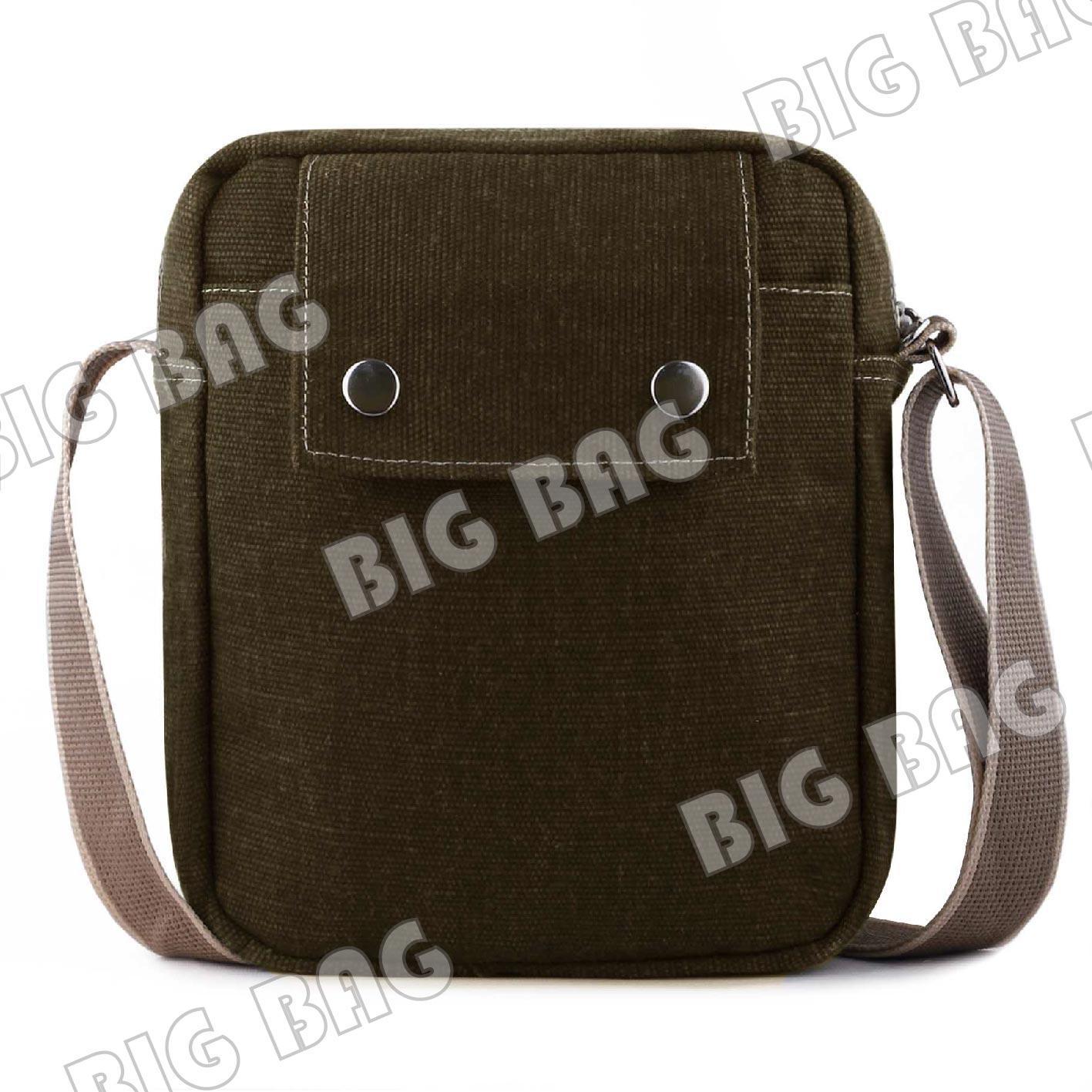 Tas Pria Men Baepack Canvas Multifunction Travel Satchel Messenger Shoulder Bag - 5 .
