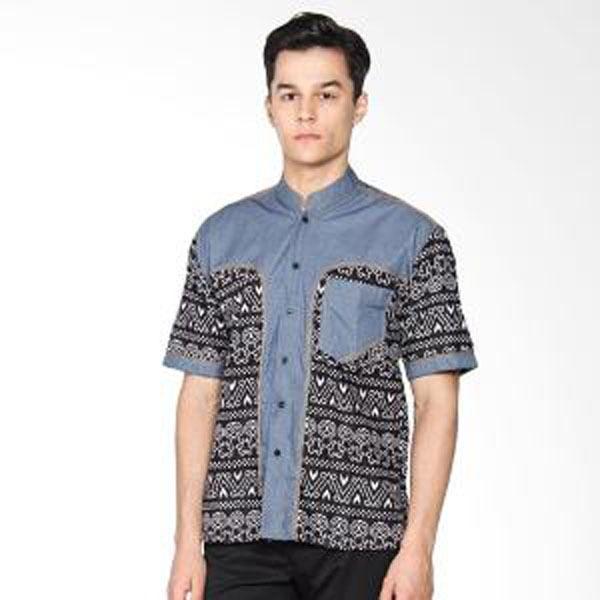 Baju Koko Batik Panca Kombinasi Jean Cocok Buat Kemeja Kerja