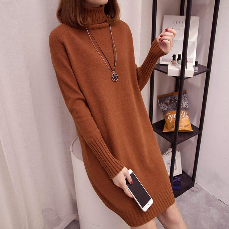 MUUCOTTI Baju Wol Wanita Pulover Kerah Tinggi (Warna Karamel) (Warna Karamel ) cf0f81f24e