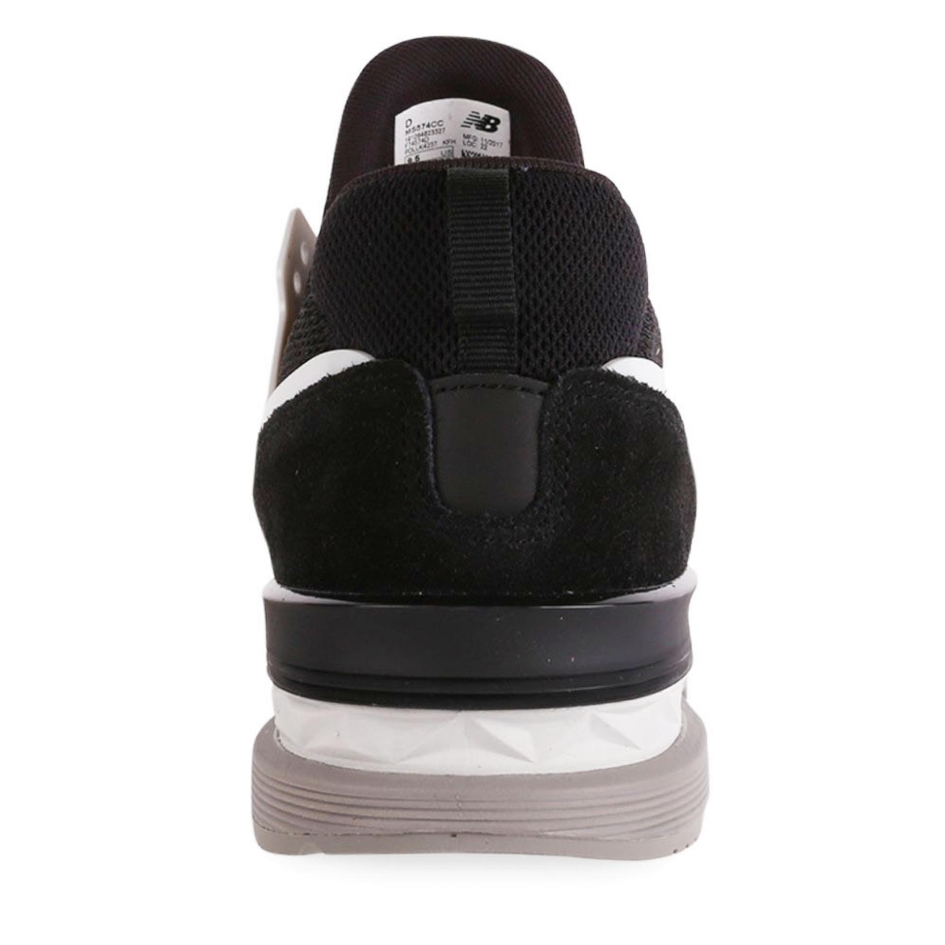Sepatu Nb New Balance 574 Pria Laki Cowok Casual Santai 565 Sneakers Hitam Suede Heather 3