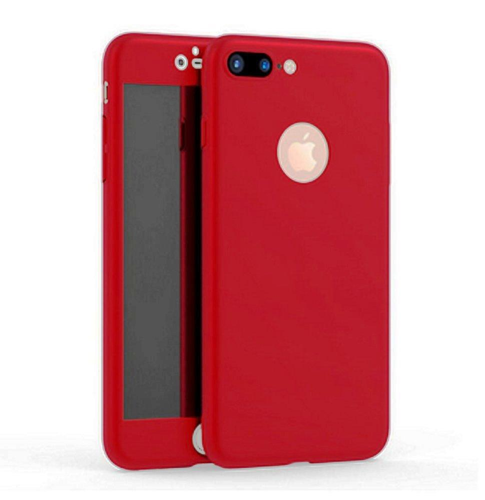 Fitur Apple Iphone 7 Plus 360 Hardcase Full Protection Free Tempered Glass Frame 6p Hitam Luxury 2
