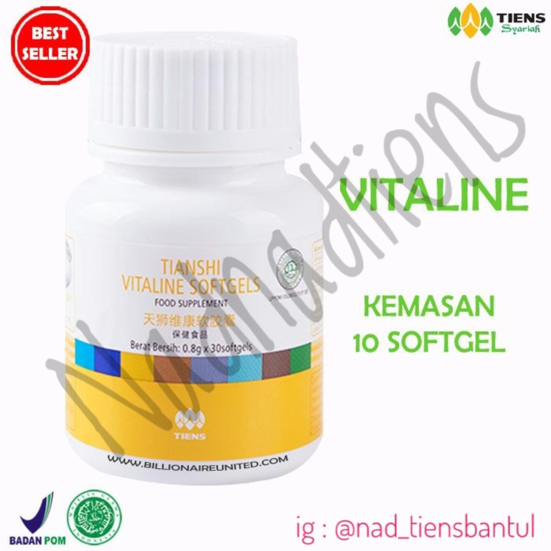 Beli Tiens Vitaline Softgel Suplemen Pemutih Wajah Dan Seluruh Tubuh Vitamin E 10 Kapsul Nadnadtiens Murah