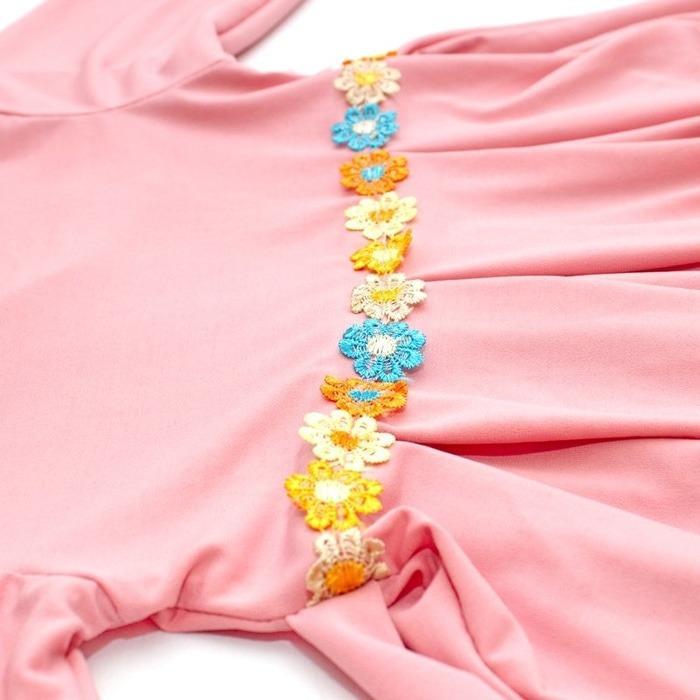 Bandingkan Toko BAJUYULI - Baju Muslim Gamis Anak Murah Polos Cantik Peach SS01 harga baru -