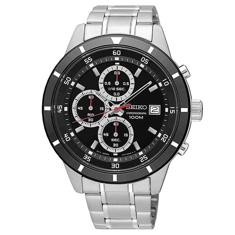 Spesifikasi Seiko Chronograph Jam Tangan Pria Silver Stainless Steel 965S Dan Harganya