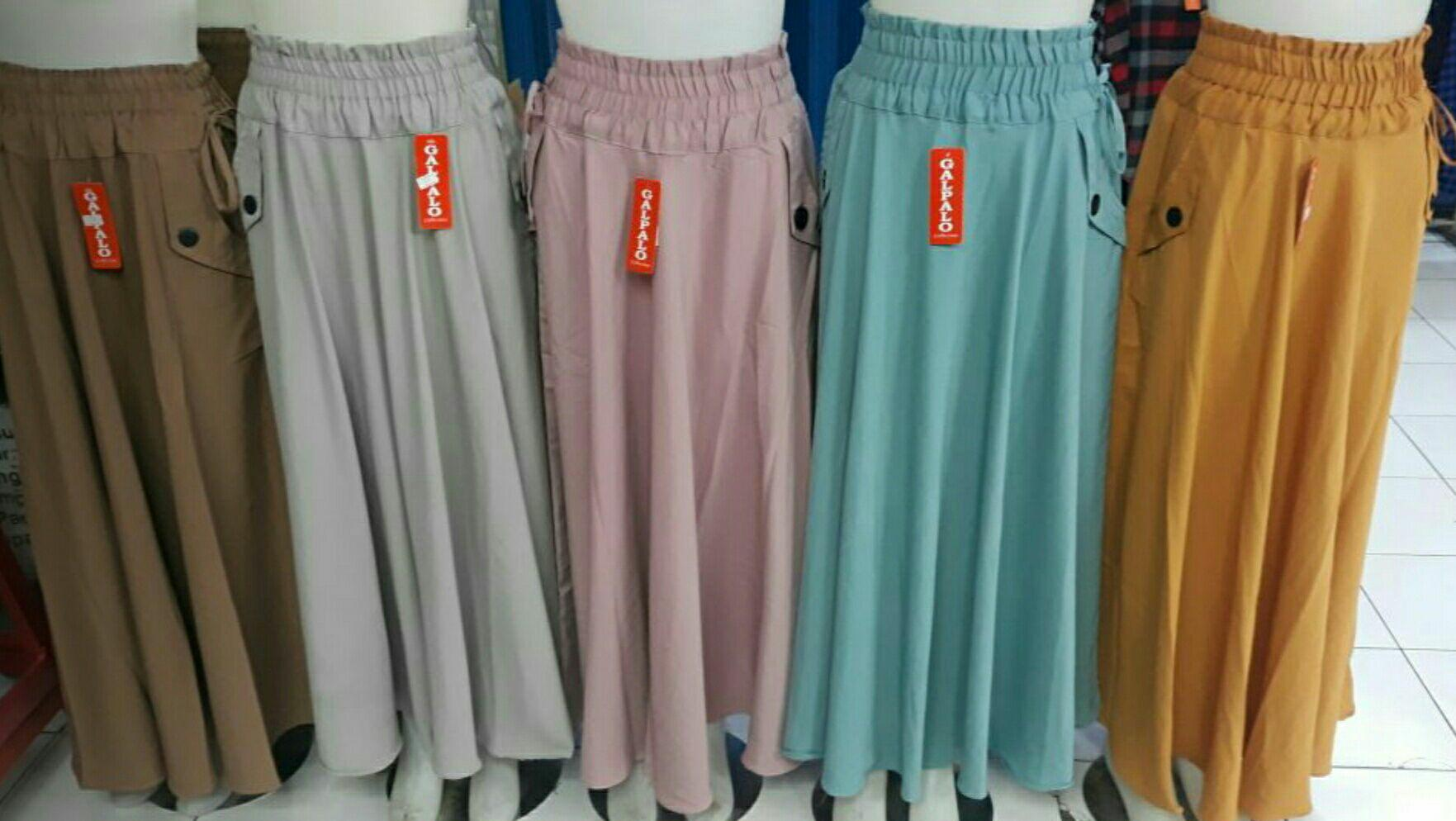 Review Rok Umbrella Polos Rok Payung Umbrella Skirt Rok Muslimah Terbaru