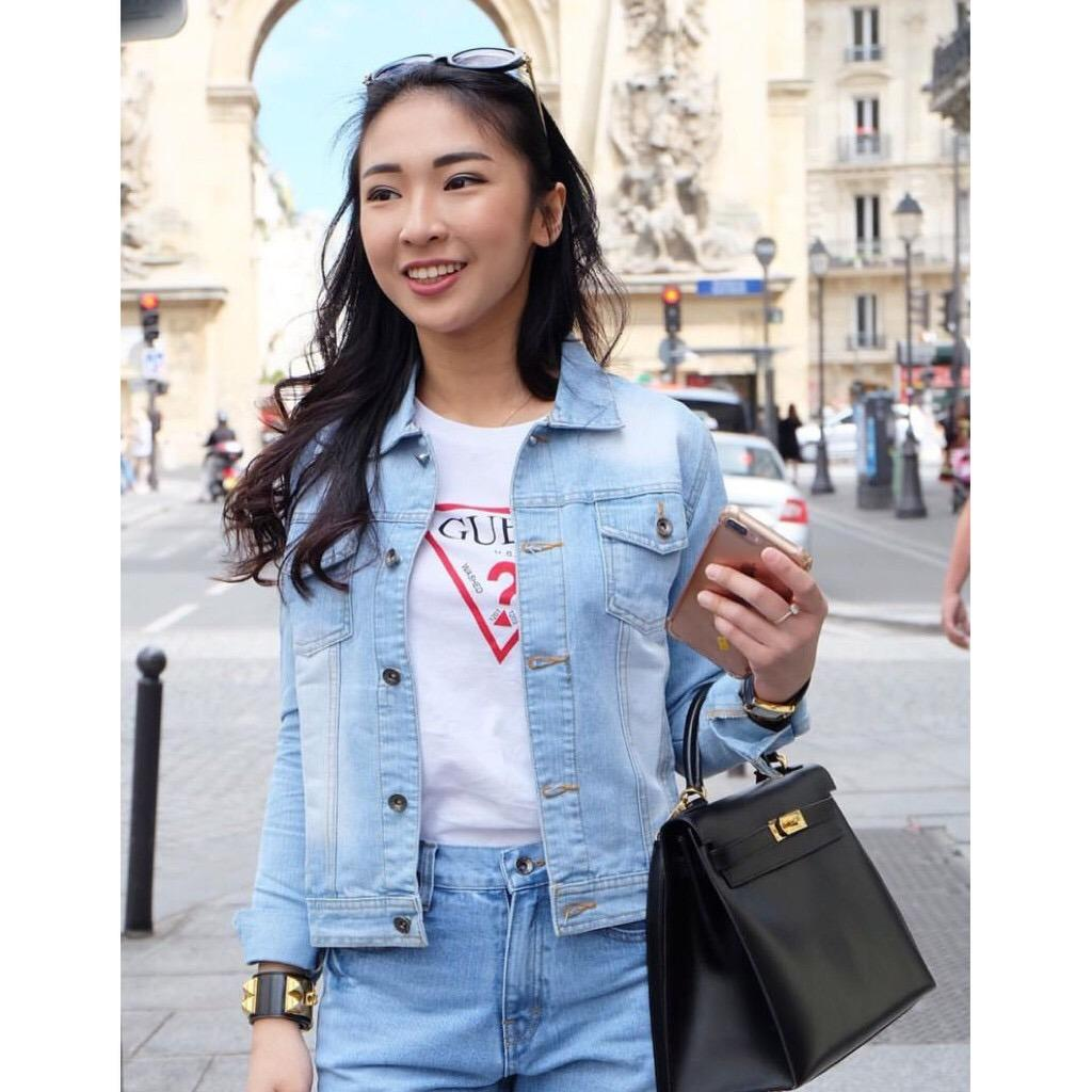 Toko Jual Jaket Victoria Zr Jeans Aurora Wanita Murah Bangkok Jacket Woman Fashion Afnia Muda