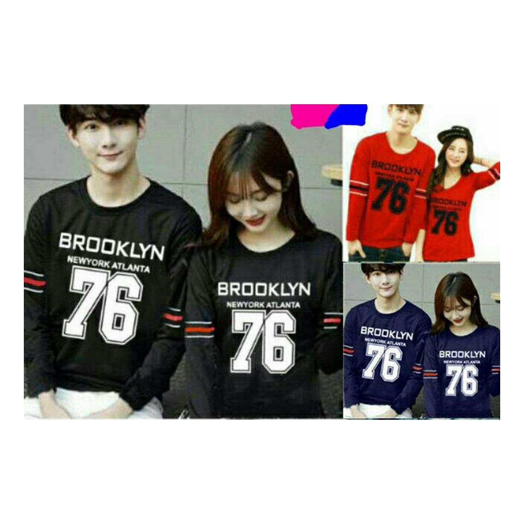 Harga Legionshop Sweater Pasangan Sweater Couple Baju Pasangan Baju Couple Couple Terbaru Brooklyn 76 Sudah Harga Pasangan Paling Murah