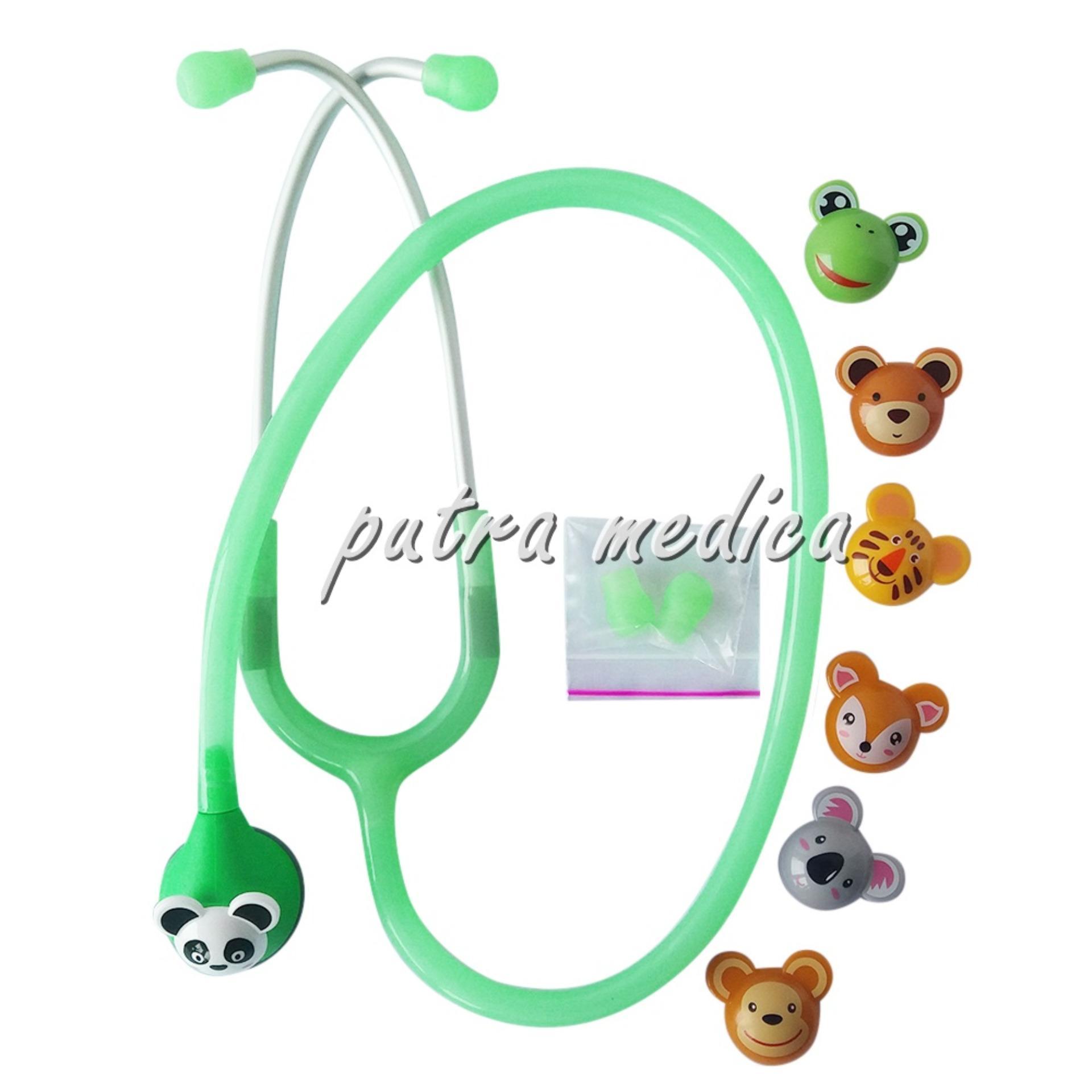 Beli Putra Medica Abn Toonscope Stetoskop Anak Karakter Frosted Green Stetoskop Warna Warni Boneka Lucu Alat Kedokteran Seken