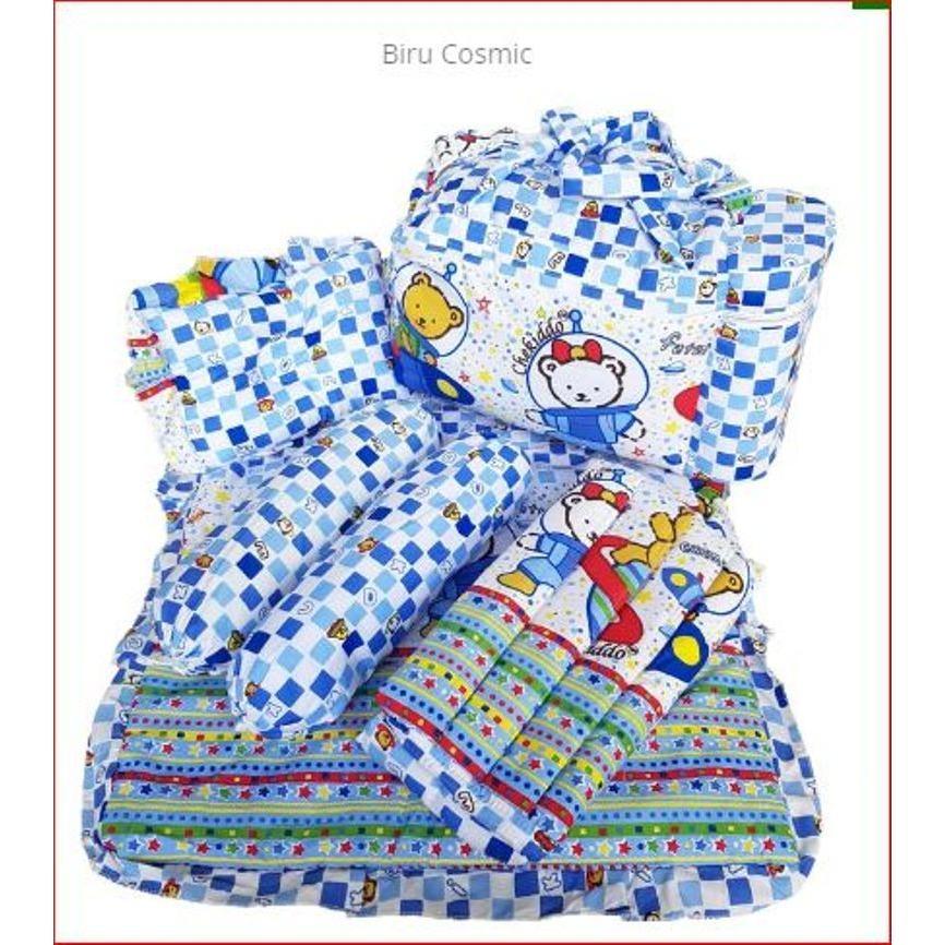 Harga 4 In 1 Perlengkapan Bayi Tas Bantal Guling Gendongan Perlak Alas Tidur Baby Asli