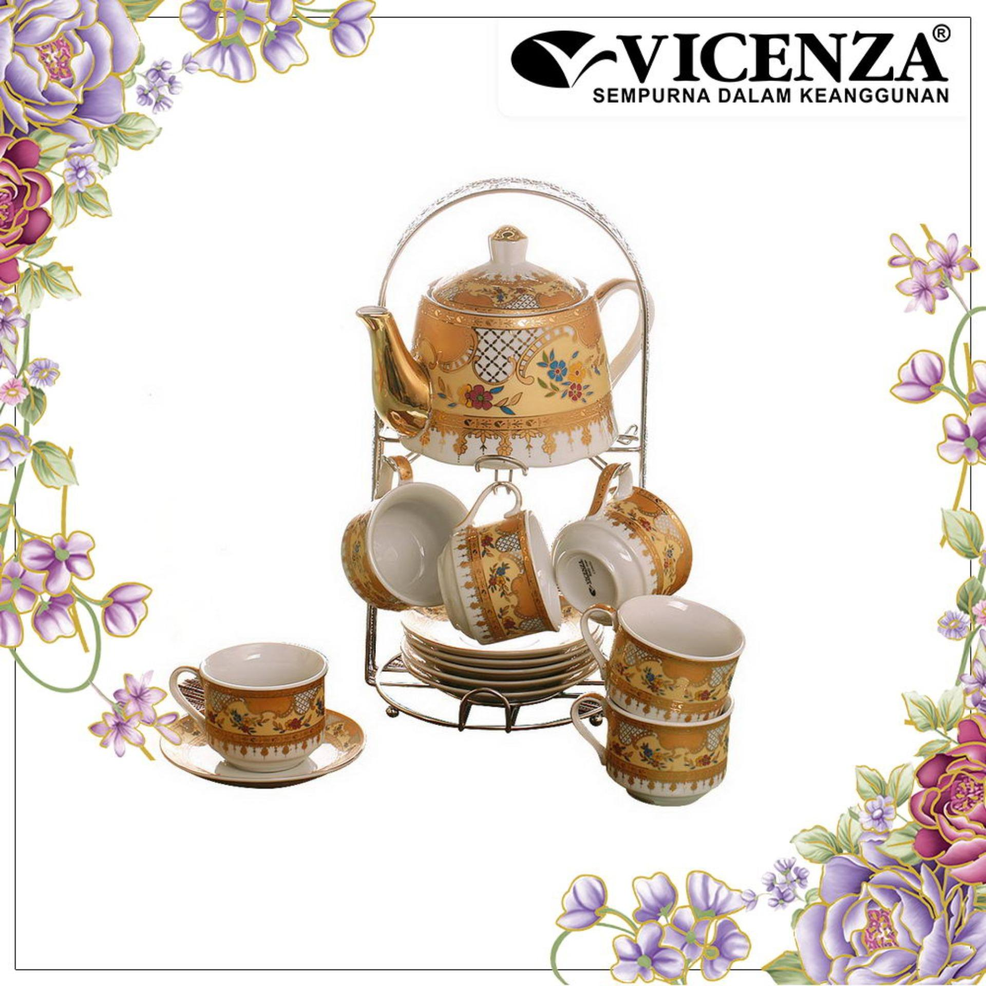 Vicenza TABLEWARE C96 (Cangkir dan Lepek dengan Teko / Cup and Saucer, Tea Set with Teapot)