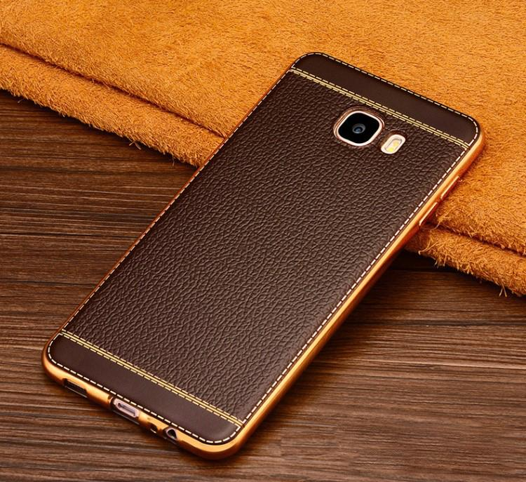 CASE SAMSUNG GALAXY C5 / C5 PRO PREMIUM LEATHER LUXURY KULIT SINTETIS SOFT BACK COVER