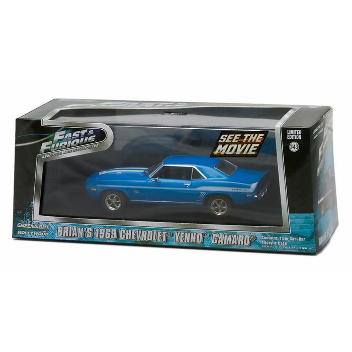 Greenlight 1:43 Brian's 1969 Chevrolet Yenko Camaro Fast Furious - Tvksis