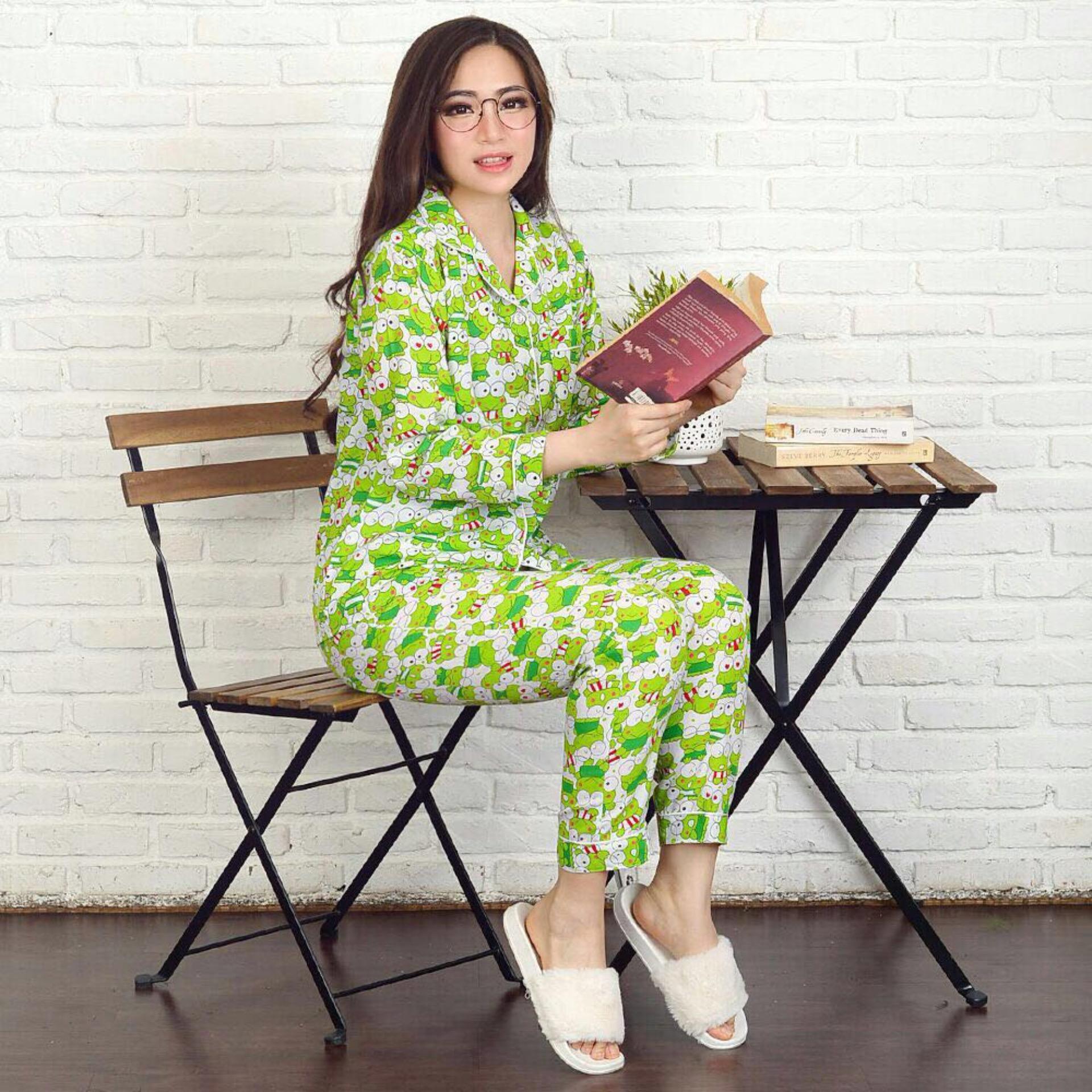 F Fashion Baju Tidur Wanita Piyama Wanita Keropi / Piyama Wanita / Baju Tidur Wanita /