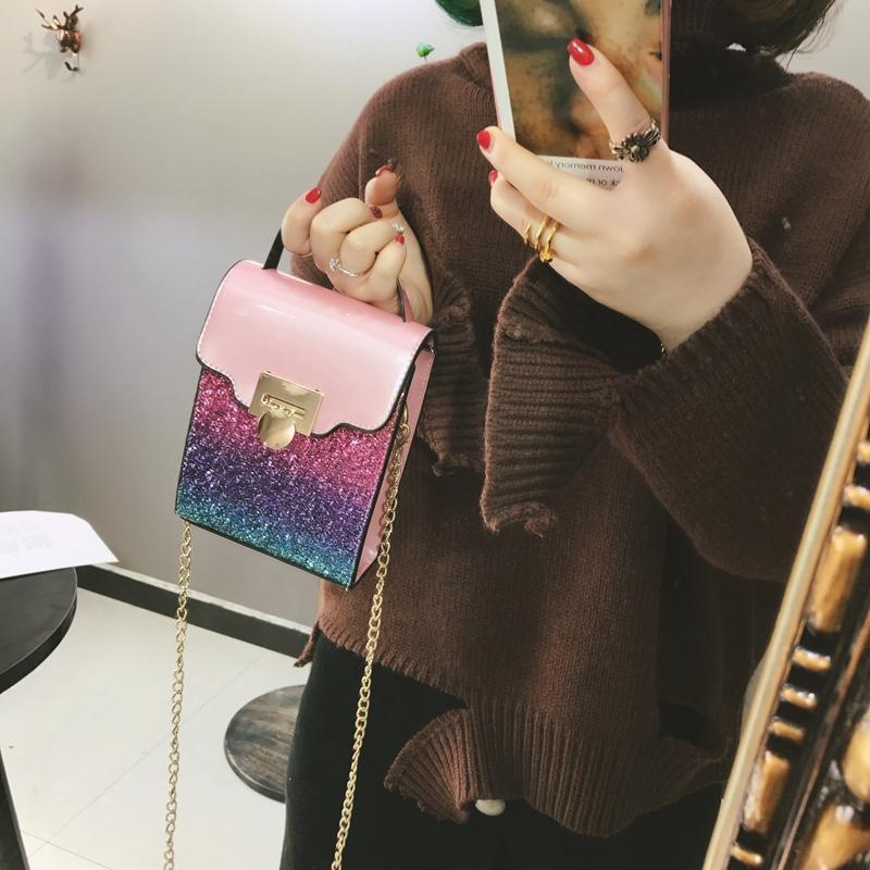 Di Eropa Dan Amerika Serikat Perhiasan Yang Berkelip-Kelip Perempuan Baru Tas HP Tas Kecil