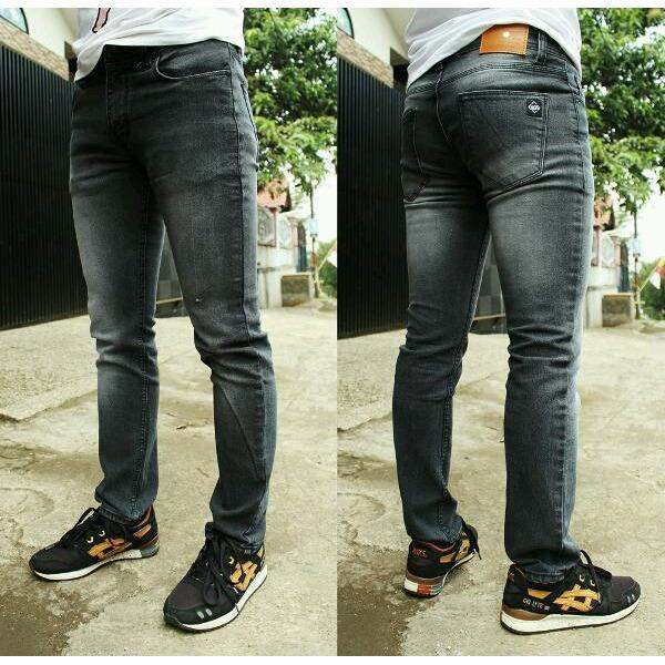 Harga R S T R Celana Jeans Skiny Pria Celana Model Pensil Cealana Jeans Jumbo Biru Dongker Hitam Biru Muda Biru Tua Abu Abu Asli
