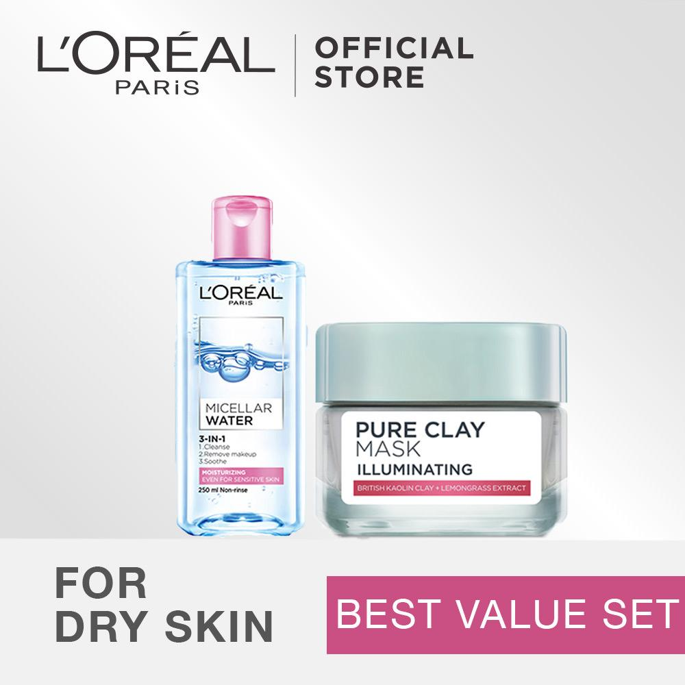 Harga L Oreal Paris Dermo Expertise Micellar Water Pure Clay Mask Best Value Set Yang Murah Dan Bagus