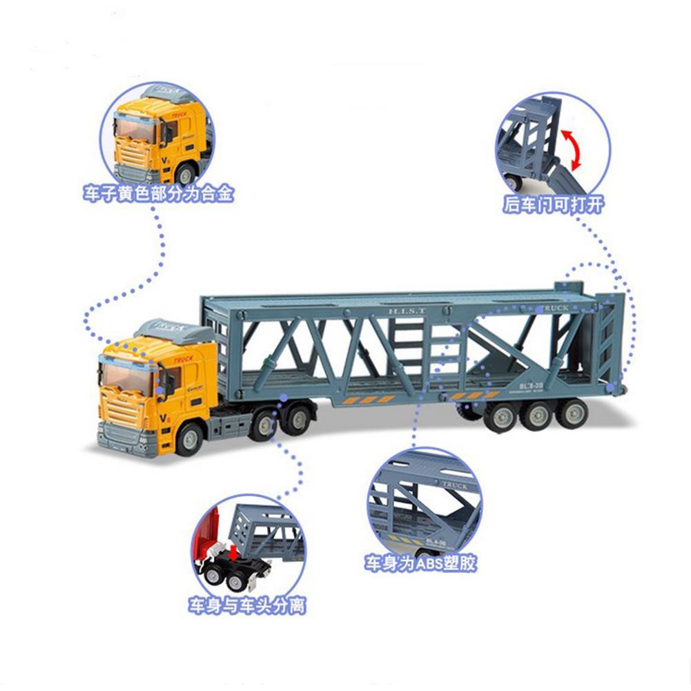 Fitur Inertial Trailer Kontainer Mainan Truk 1 64 Logam Aksesoris Truck Detail Gambar Campuran Mobil Model Tarik Ke Belakang Untuk Koleksi Hadiah Gaya