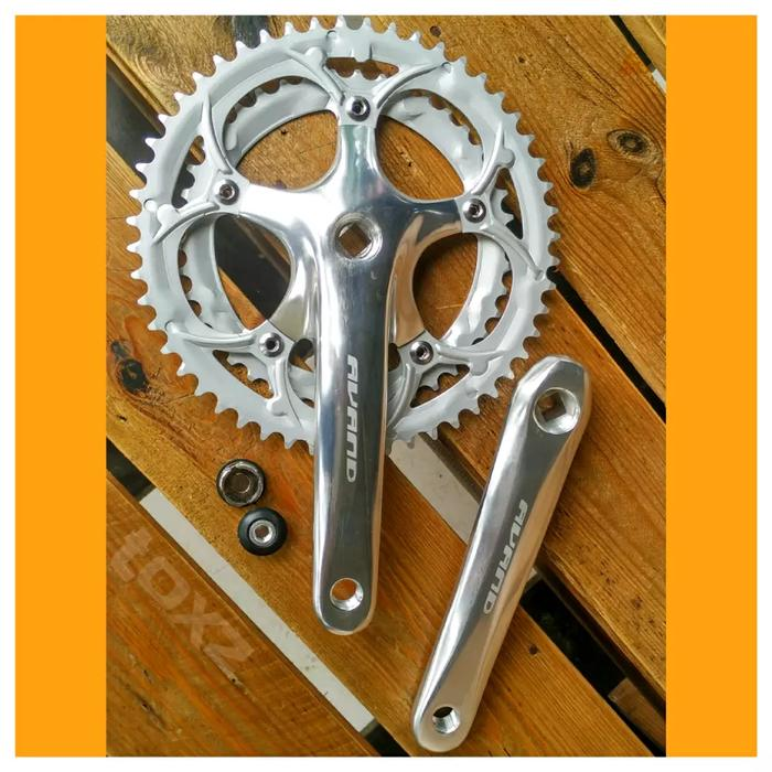 Crank Roadbike Double Chainring 42-52T - Avand - Alloy - Silver