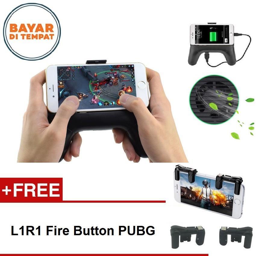 Mobile Phone Cooler Powerbank Gamepad Radiator PUBG Kipas Pendingin Handphone Untuk Gamers Bisa Powerbank