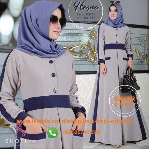 Harga Diskon Baju Original Gamis Mauna Dress Balotelly Baju Muslim
