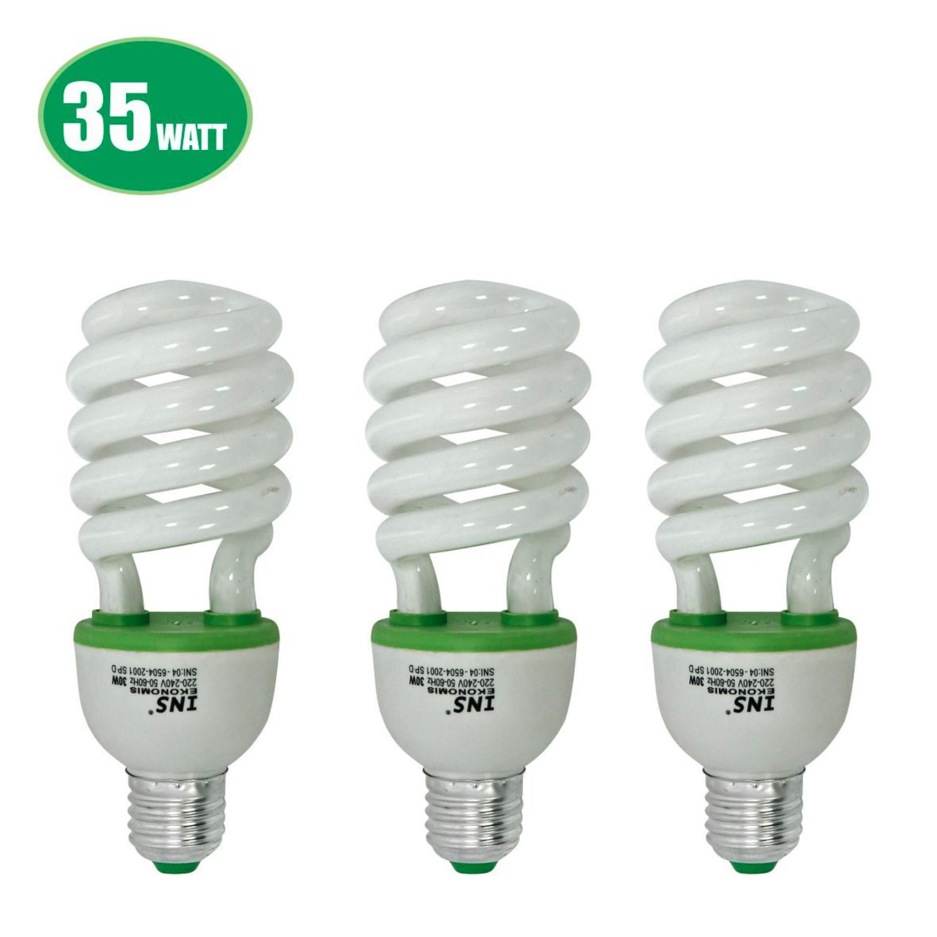 Jual Lampu Bohlam Bulb Led 27watt Bulat Weitech Hemat Energi Spiral 3 Pcs 35w Putih