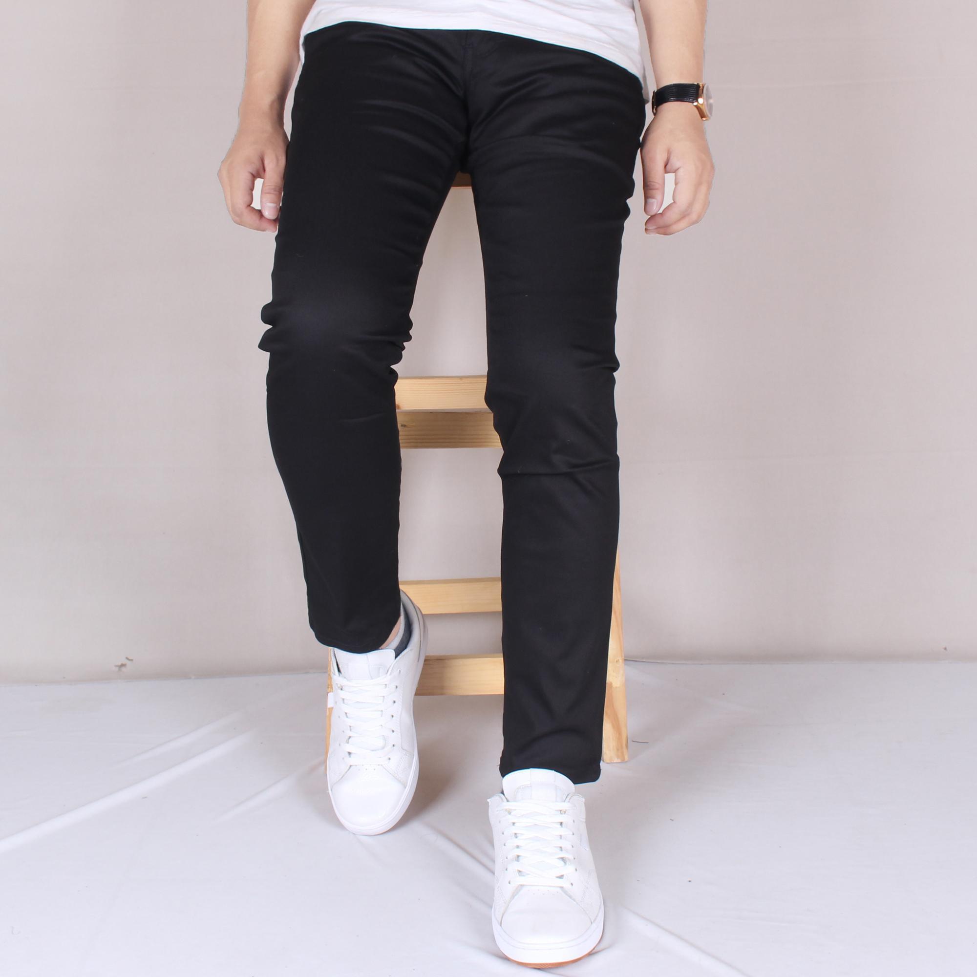 ... Zs-fashion 6014 Celena Jeans Panjang Pria Celana Chino Skinny Cowok Washing Black Celana Jeans