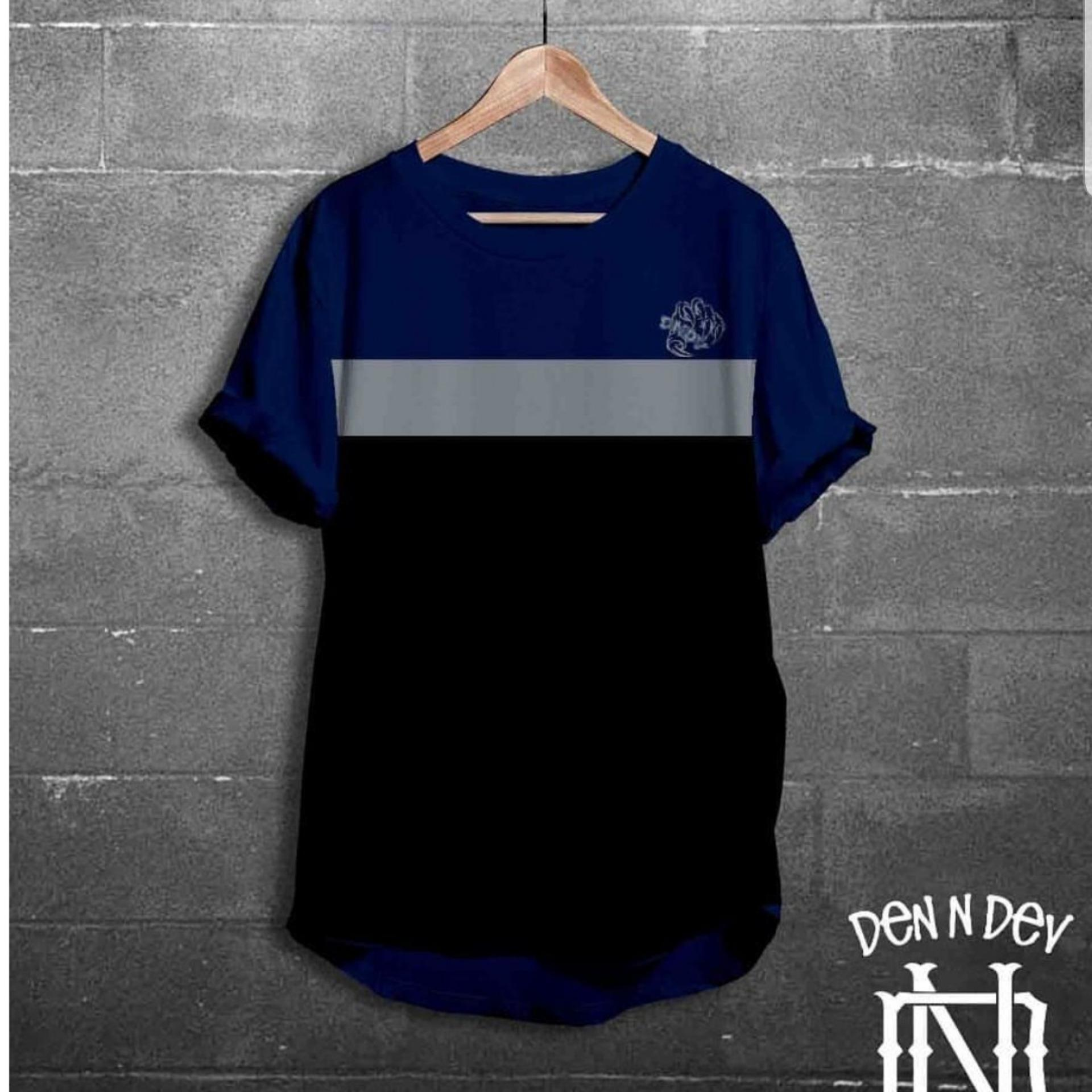 HIGH5 Fashion Pria Kaos Lengan Pendek DNDV CLAW Navy