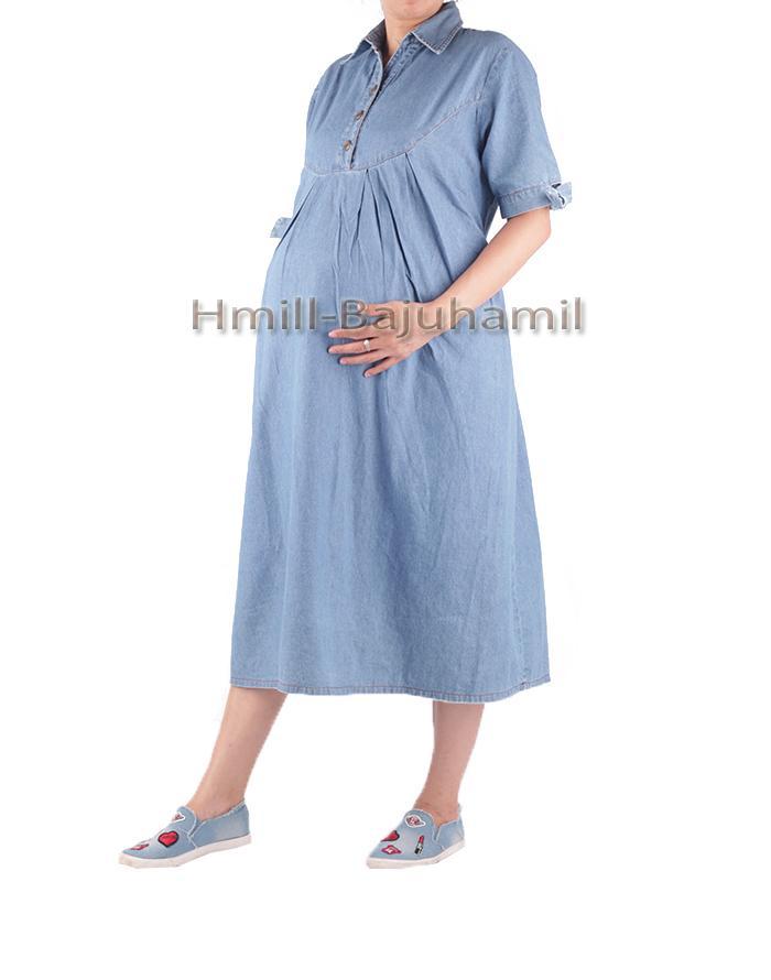 HMILL Baju Hamil Dress Hamil 1501 - Jeans