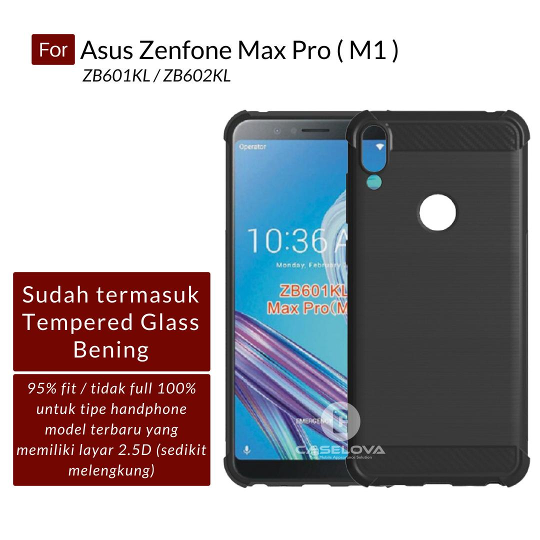 Caselova Corner Protection Cushion Premium Carbon Shockproof TPU Case For Asus Zenfone Max Pro (M1