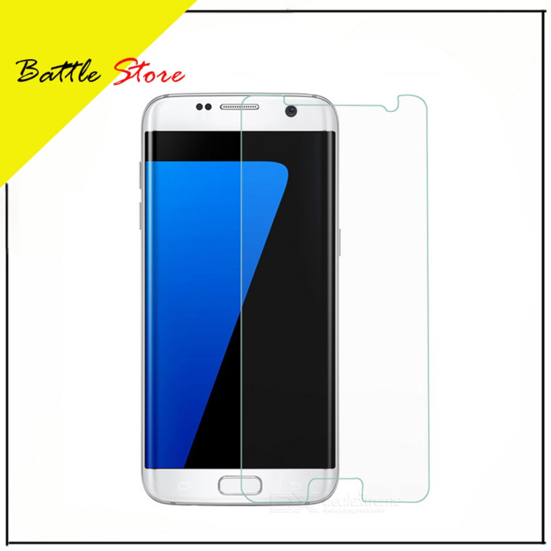 Samsung Galaxy S7 Flat Premium Smile Screen Protector Tempered Glass / Anti Gores Kaca - White