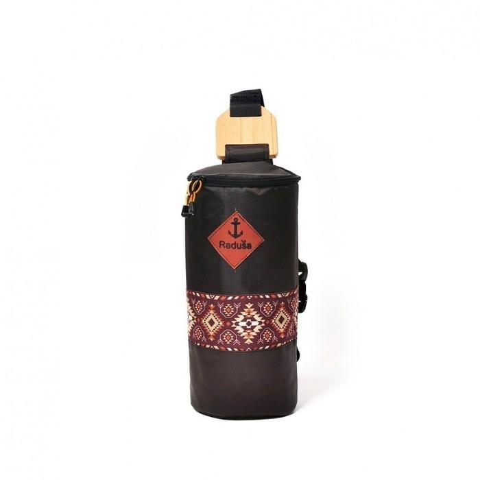 Tas Selempang Waistbag Merk Radusa Kalimantan Bag Ikat Pattern Black - Ft4mml