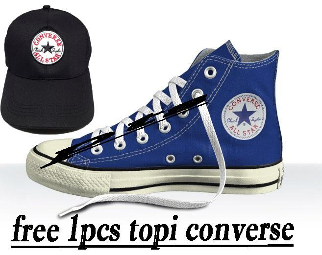 TOP PRODAK SEPATU CONVERSE ALL-STAR SNEAKERS FREE 1PCS TOPI CONVERSE