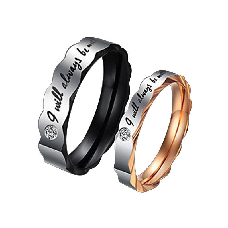 NEW Promo Perhiasan Cincin Titanium Tunangan Kawin Couple Murah