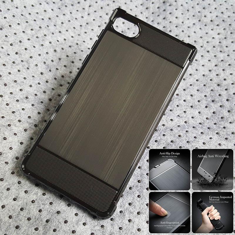 Shockproof Armor TPU Soft Case Blackberry Motion - Hitam