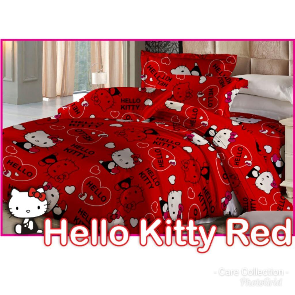 Cek Harga Baru Sprei Bonita Hello Kitty Play King 180x200 Terkini Seprei Fata Red