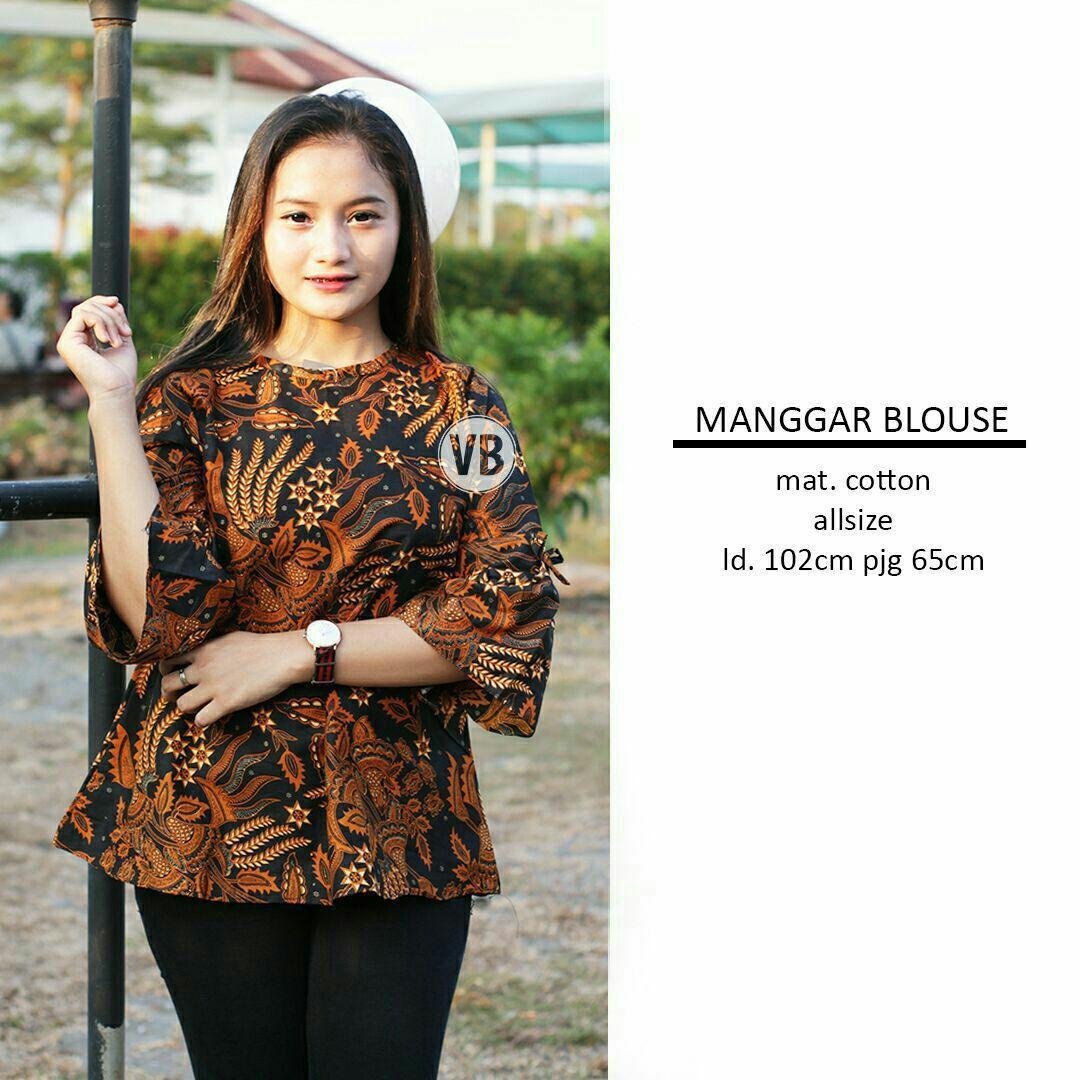 Blouse Batik Atasan Wanita Baju Batik Kerja Wanita Seragam Guru