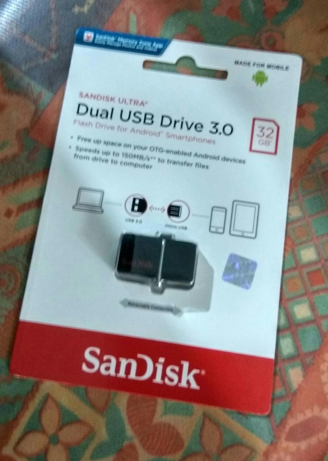 Cek Harga Baru Sandisk Flashdisk Usb 3 Otg 32gb Up To 130 Mb S Ori