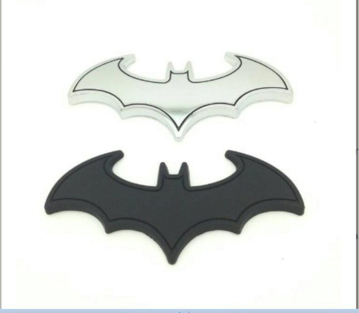 Batman Superhero Emblem Stiker Sticker Tempelan 3D Metal Mobil Motor