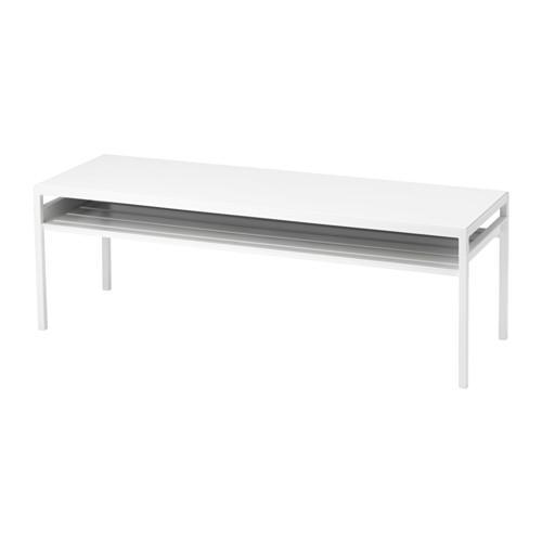 IKEA NYBODA Meja tamu dengan daun meja dapat dibalik warna putih/abu-abu