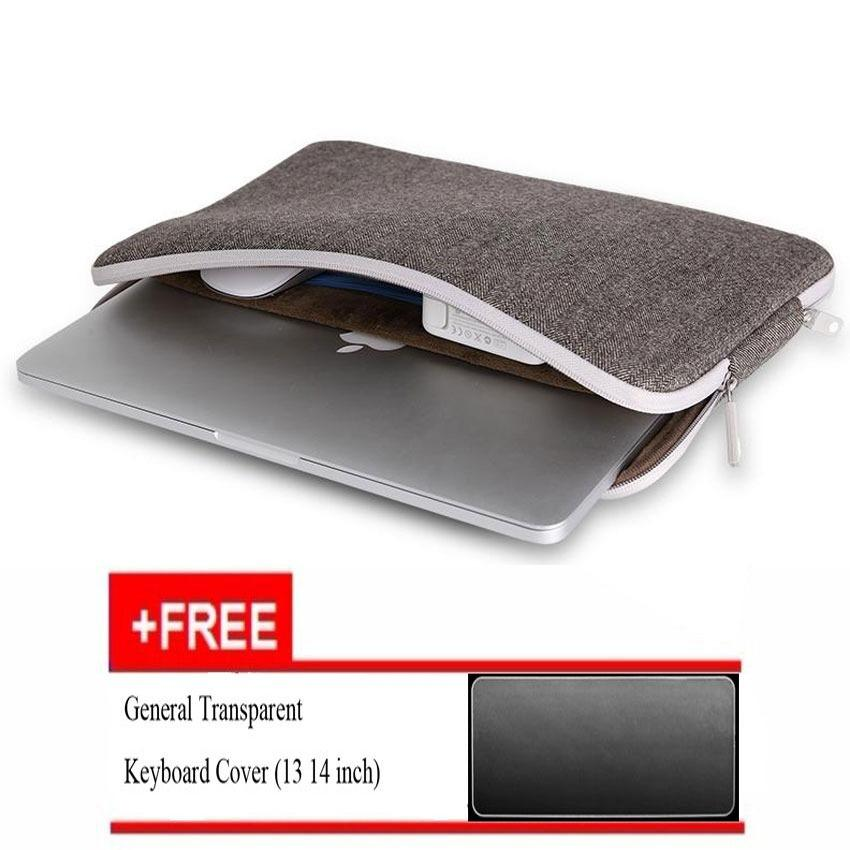 Toko Wiwu Felt Laptop Bag Case 14 Inch Brown Online Terpercaya