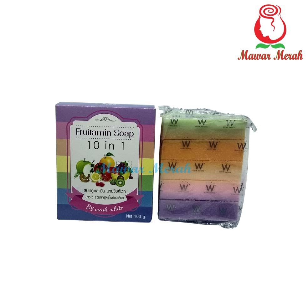 Kelebihan Fruitamin Soap 10 In 1 Original By Wink White Asli Frutamin Sabun Thailand