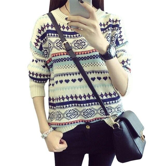 Grand LMS Sweater Willy White Bahan Rajut Fit to L   Sweater Wanita   Baju  Hangat 608f0b39fb