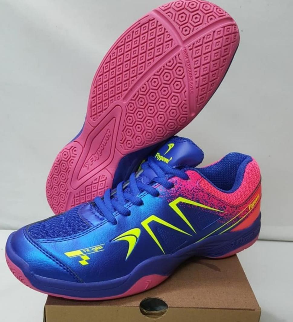 Sepatu Bulutangkis Flypower Plaosan 5 Dewasa Original Badminton Shoes Murah Diskon Promo Adha Sport