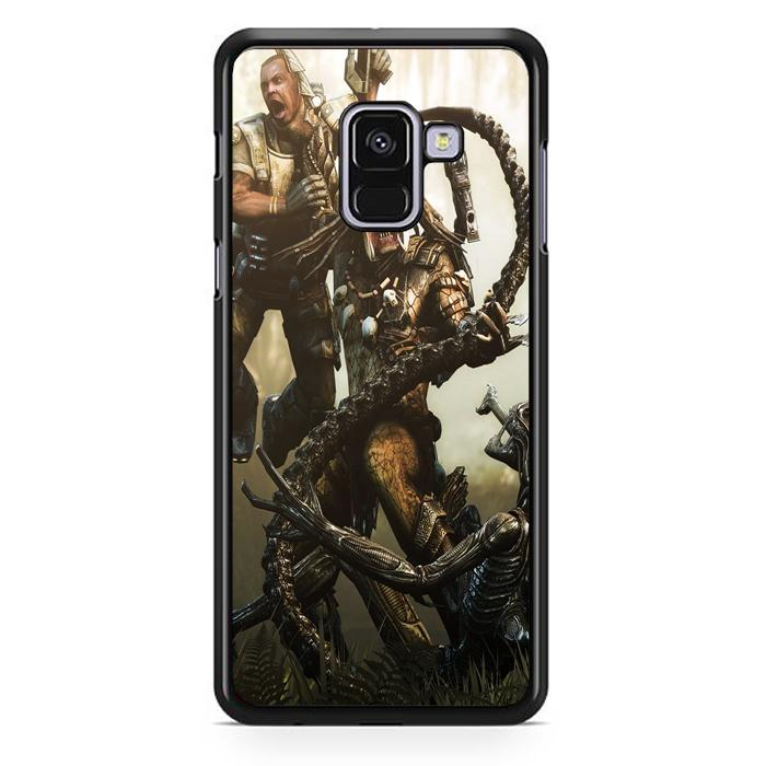 Casing Hardcase Samsung Galaxy A8 2018 Motif Alien Vs Predator Z0997
