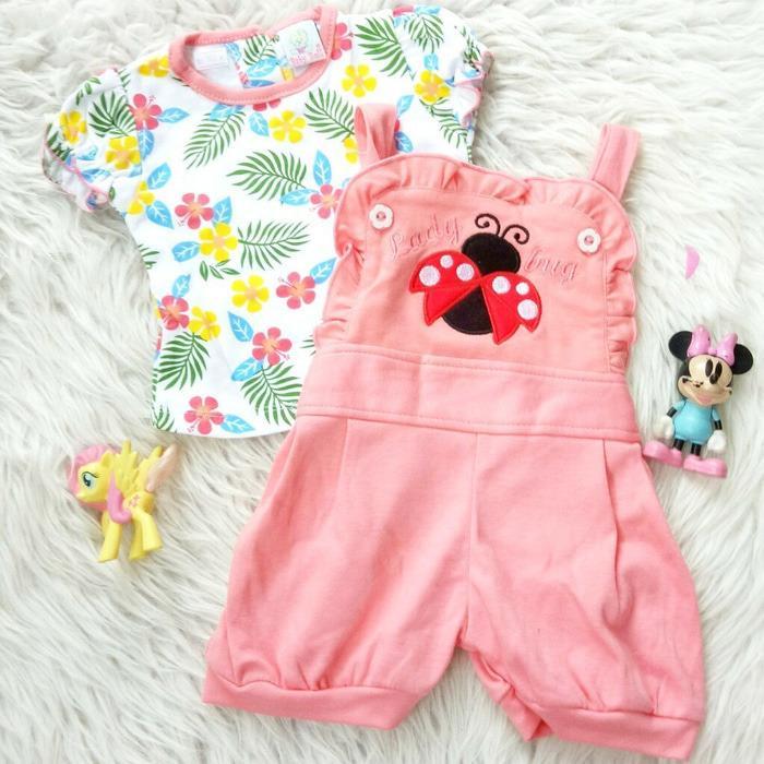 Tips Beli Setelan Jumpsuit Baju Bayi Anak Lovely Ladybug Yang Bagus