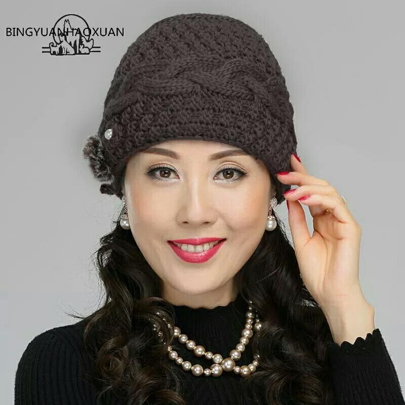 ... Topi kupluk winter wanita import - topi wanita motif bunga - 3 ... 68981bfb9d
