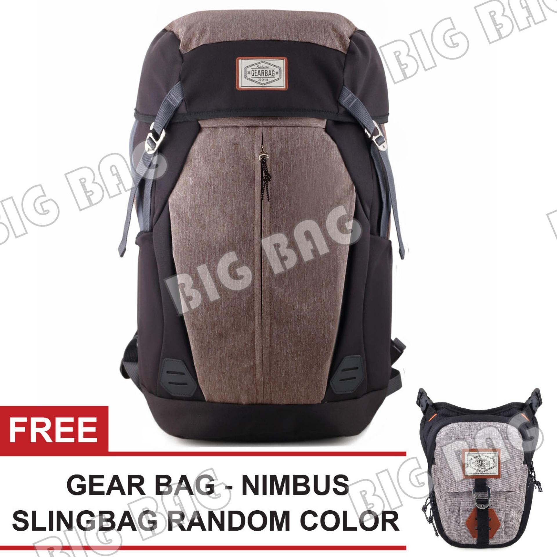 Tas Ransel Gear Bag Daypack Diario Rhino 2.0 Outdoor Tas Laptop Backpack + FREE Tas Selempang