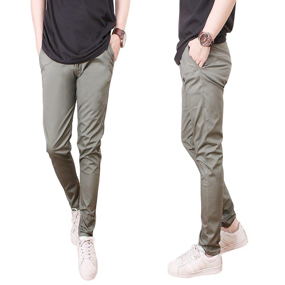 Kelebihan Nusantara Celana Chino Pria Bahan Cotton Ekclusiv Pensil Kantong Bobok Jahitan Rapi Retsleting